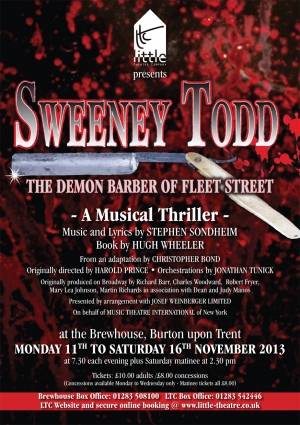 Sweeney Todd - The Demon Barber of Fleet Street  by Stephen Sondheim